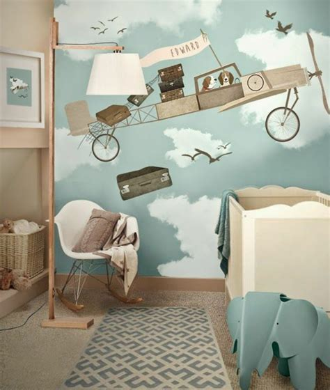 Kinderzimmer Gestalten Ideen niedliche babyzimmer wandgestaltung inspirierende