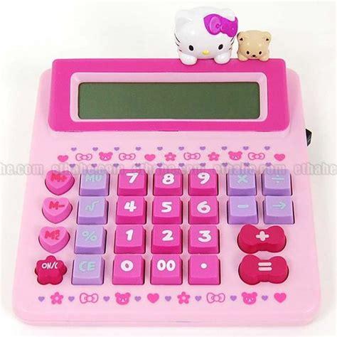 Kalkulator Hk Hello Sanrio Calculator Pink מחשבונים מגניבים