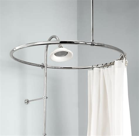shower curtain round rod types of ceiling mount shower curtain rod homesfeed