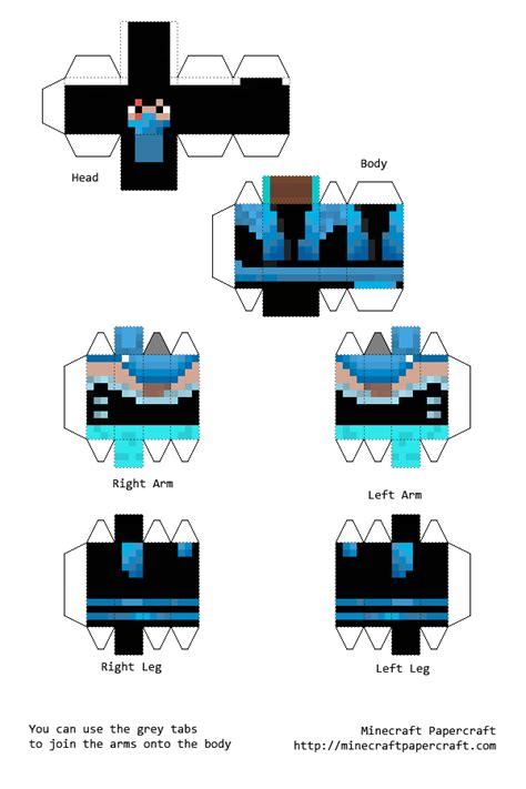 Minecraft Papercraft New - papercraft sub zero skin