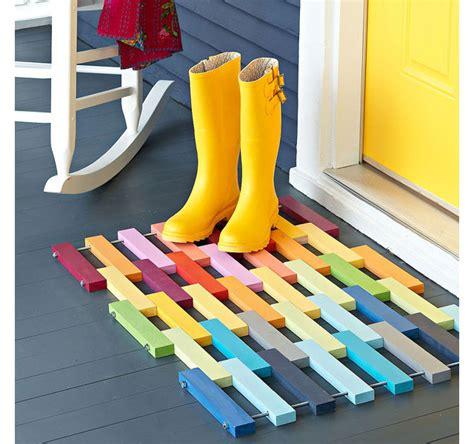 diy rug door mat willard and may outdoor living