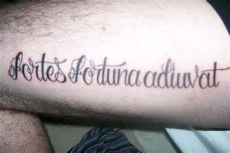 fortes fortuna adiuvat hip tattoo tattooimages biz