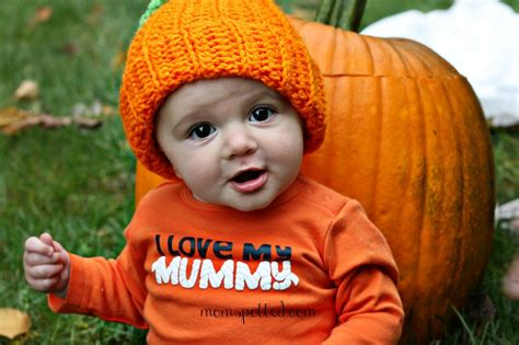 infant fall baby pumpkin adorable baby photography momspotted