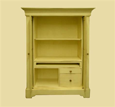 Small Corner Computer Armoire by Corner Computer Armoires For Small Space