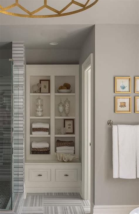 built in shelves in bathroom 25 beautiful gray bathrooms