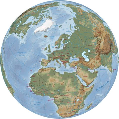 world globe map europe political map