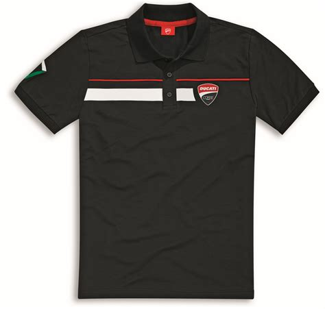 Polo Shirt Ducati Corse ducati corse 17 sleeved polo shirt in black new