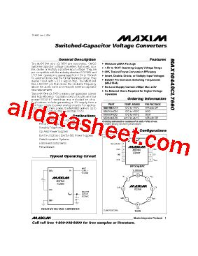 maxim integrated products work environment icl7660cpa データシート pdf maxim integrated products