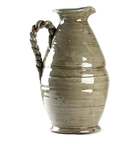 country vases athenaeum country grey pitcher vase