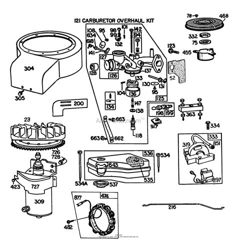 briggs and stratton engine parts diagram parts for 19 5 hp briggs and stratton engine
