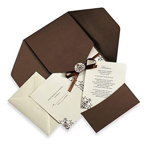 brown and ivory wedding invitation kits gartner studios brown and ivory invitation kit set of 25