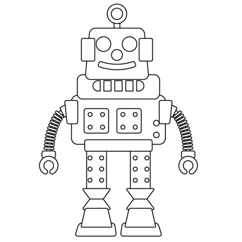 robot coloring pages pdf robot coloring page
