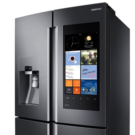Touchscreen Samsung samsung s fridge comes with a 21 5 inch lcd