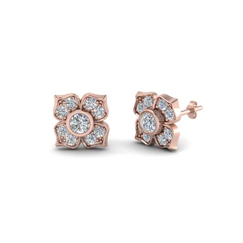 48 Diamond Flower Stud Earrings, Bulgari Sapphire And