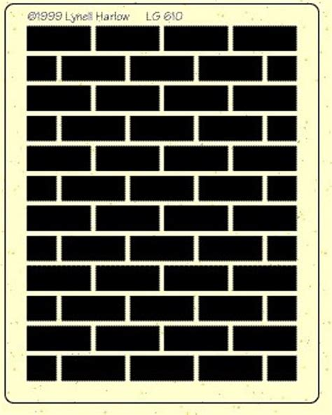 wall pattern template bricks stencil project pinterest brick wall