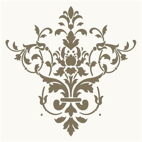 templates for painting free damask stencil pattern
