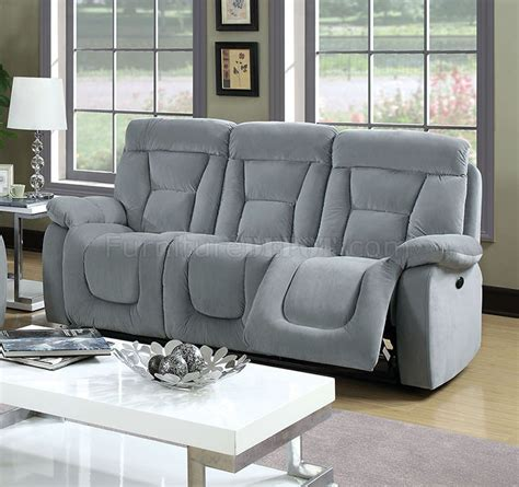 sofas and chairs bloomington bloomington cm6129gy power reclining sofa in fabric w options
