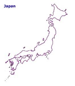 Japan Map Cities Outline by Map Of Japan Terrain Area And Outline Maps Of Japan Countryreports
