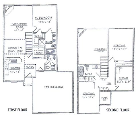 floor plan for 2 story house 3 bedrooms floor plans 2 story bdrm basement the two