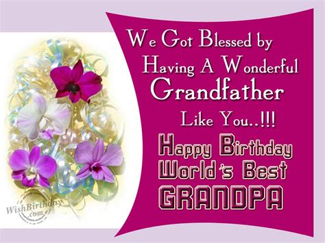 Birthday Greeting Cards For Grandfather Birthday Wishes For Grandfather Birthday Images Pictures