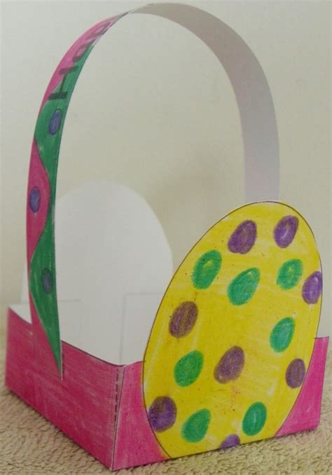 Paper Basket Craft Ideas - easter basket craft for with free template and