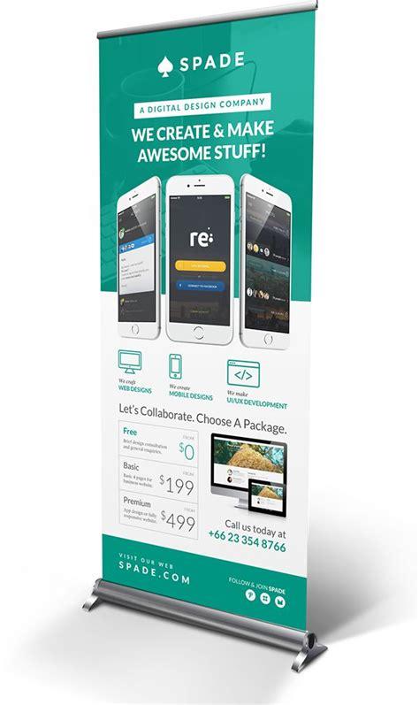 banner design on behance design agency studio services roll up banner on behance