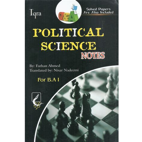 Political Science Fragomen Mba by Iqra Political Science Notes B A Part I By Farhan Ahmed