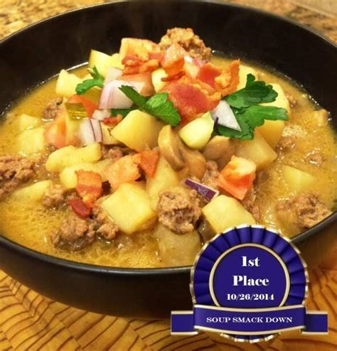 award winning split pea soup with gouda crostini 10 best award winning soups recipes