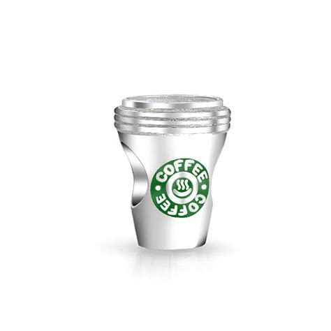 925 sterling silver green coffee cup to go bead pandora