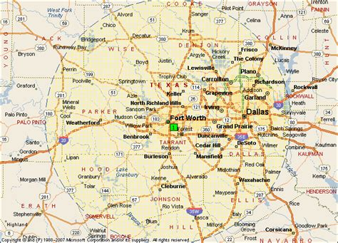 fort worth on texas map fort worth texas map
