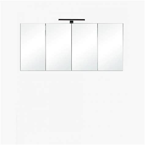 armoire miroir salle de bain 120 cm aquasun meuble salle de bain haut 120cm gris avec 4 miroirs et 233 clairage