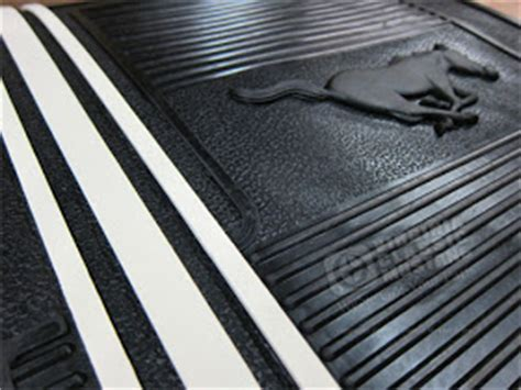 Ford Mustang Rubber Floor Mats by Virginia Classic Mustang Mustang Rubber Floor Mat Set