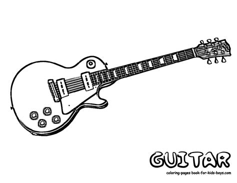 gritty guitar coloring free electric guitar
