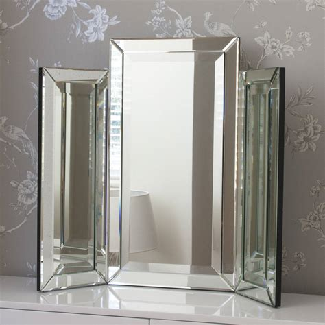 medium bevelled dressing table mirror by decorative