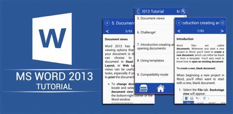 tutorial word 2013 ms office word 2013 tutorial 1 0 1 baixar apk para android