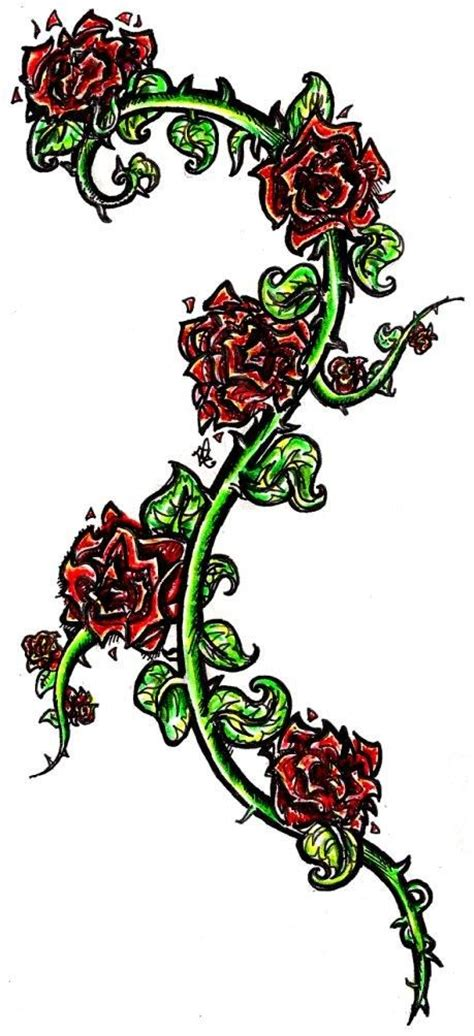 roses on a vine tattoo designs http tattoomagz vine designs and vine