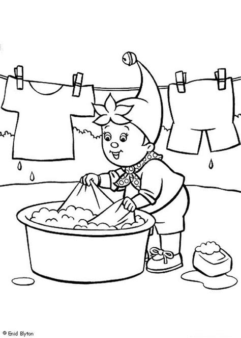 how to wash color clothes noddy washing his clothes coloring pages hellokids