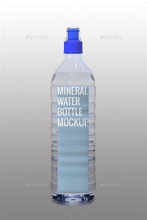 mineral water bottle mock   inddesigner graphicriver