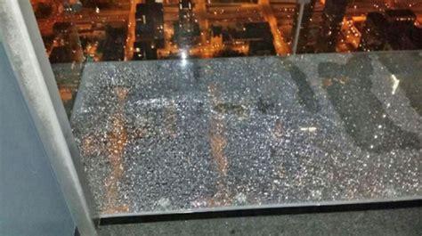 Floor Ledge the willis tower s 103rd floor glass skydeck cracked last