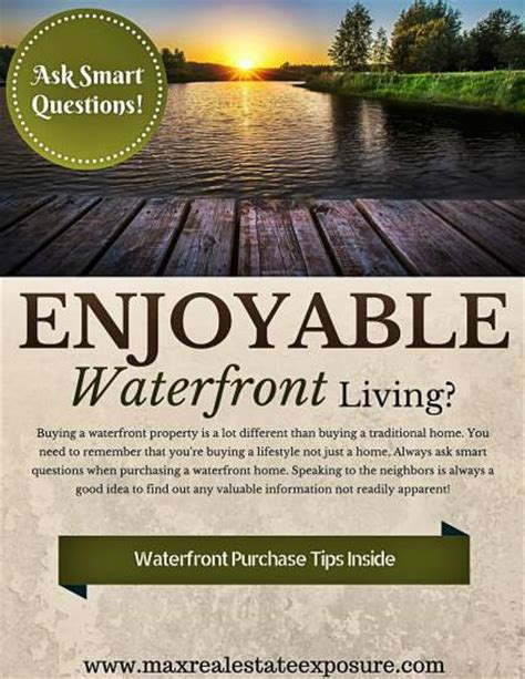 questions to ask before buying a house questions to ask when buying a waterfront home