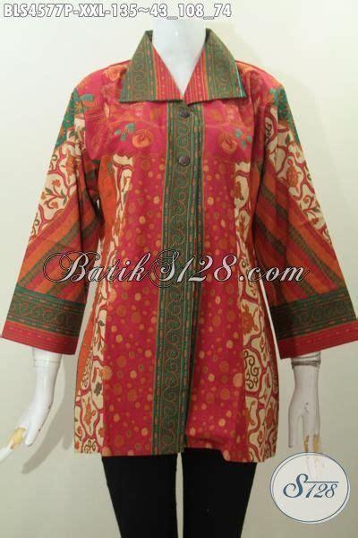 Supplier Baju Jumbo Jual Pakaian Batik Jumbo Model Blus Kerah Kotak Baju