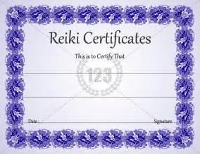 reiki certificate templates free blank reiki certificate templates studio design