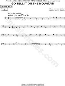 printable lyrics go tell it on the mountain canadian brass quot go tell it on the mountain trombone 2
