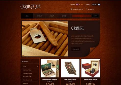 25 Website Templates With Grunge Elements Monsterpost Cigar Website Templates
