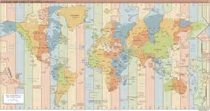 Time Zone Map World by Coordinated Universal Time Utc Military Time Chart