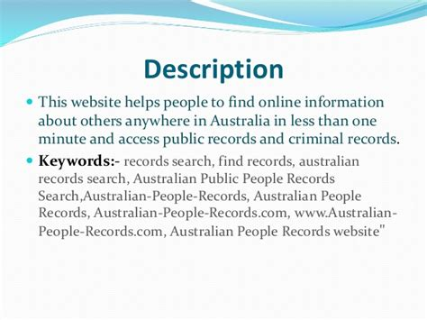 Australian Records Australian Records Search