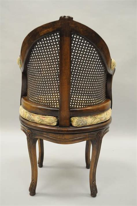 swivel vanity chair with back country louis xv style swivel vanity chair back boudoir seat walnut for sale at 1stdibs