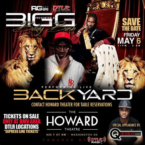 big g backyard band big g backyard band birthday bash the howard theatre
