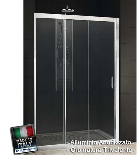 box doccia 120 box doccia nicchia 120 cristallo spessore 6 mm made in