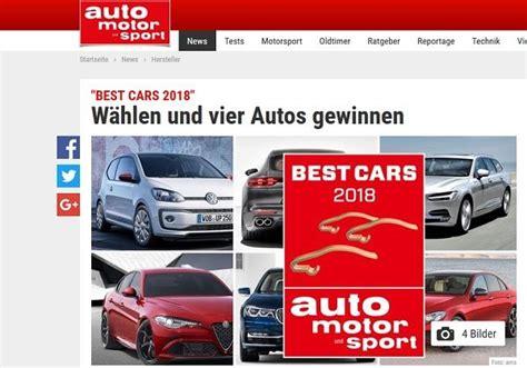 Auto Motor Sport Adventskalender by Auto Motor Sport Best Cars 2018 Leserwahl Auto Gewinnspiel